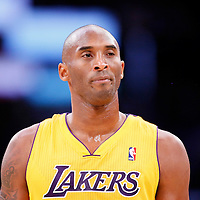 10 December 2013: Los Angeles Lakers shooting guard Kobe Bryant (24) looks dejected during the Phoenix Suns 114-108 victory over the Los Angeles Lakers at the Staples Center, Los Angeles, California, USA.