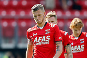 ALKMAAR - 23-08-15, AZ - Willem II, AFAS Stadion, 0-0, teleurstelling, AZ speler Jeffrey Gouweleeuw, AZ speler Mattias Johansson, AZ speler Guus Hupperts.