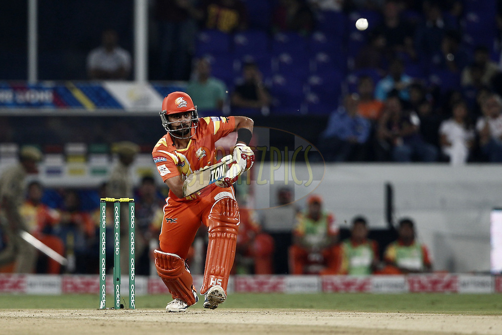 Ahmed Shehzad of the LAHORE LIONS during match 7 of the Oppo Champions League Twenty20 between the Kolkata Knight Riders and the Lahore Lions held at the Rajiv Gandhi Cricket Stadium, Hyderabad, India on the 21st September 2014<br /> <br /> Photo by:  Deepak Malik / Sportzpics/ CLT20<br /> <br /> <br /> Image use is subject to the terms and conditions as laid out by the BCCI/ CLT20.  The terms and conditions can be downloaded here:<br /> <br /> http://sportzpics.photoshelter.com/gallery/CLT20-Image-Terms-and-Conditions-2014/G0000IfNJn535VPU/C0000QhhKadWcjYs
