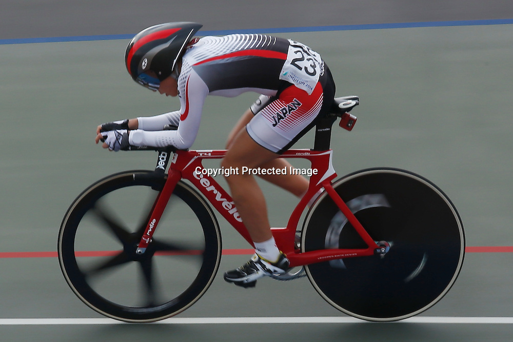 Sakura Tsukagoshi (JPN), <br /> SEPTEMBER 24, 2014 - Cycling - Track : <br /> Women's Omnium <br /> at Incheon International Velodrome <br /> during the 2014 Incheon Asian Games in Incheon, South Korea. <br /> (Photo by AFLO SPORT)