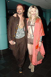 15/03/2006<br /> World Premiere of 'Basic Instinct 2' at The Vue Cinema Leicester Square<br /> Pete Burns and his boyfriend Michael Simpson <br /> <br />   / action press