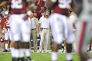 Ole Miss vs. Alabama Coach Nick Saban at Bryant-Denny Stadium in Tuscaloosa, Ala. on Saturday, September 29, 2012.