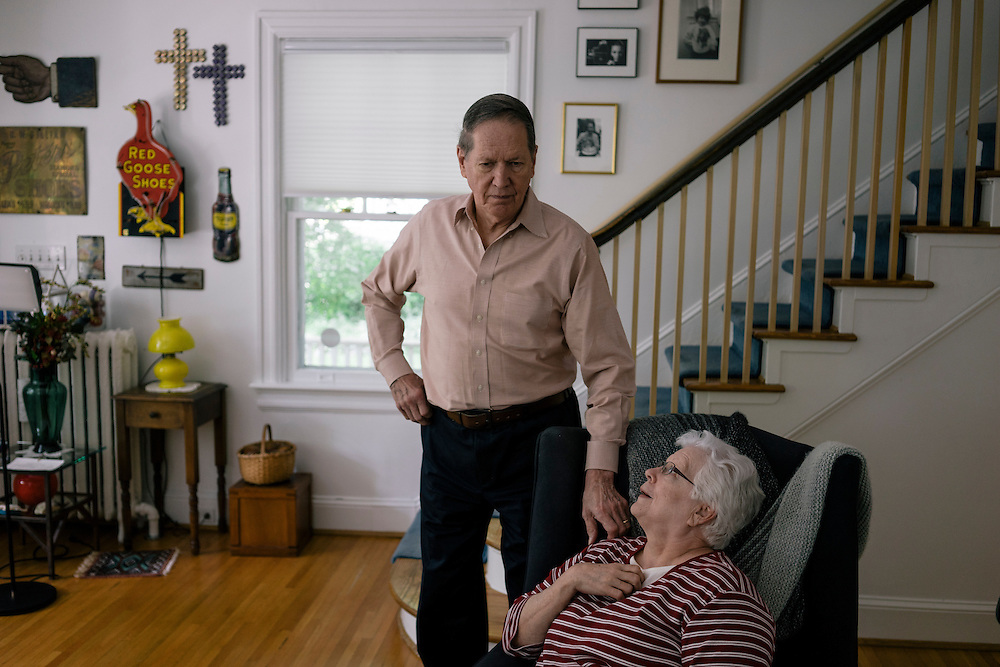WASHINGTON, DC - MAY 12 William Christenberry at his home with his wife Sandy in NW Washington DC on May 20, 2015. (Photo by Greg Kahn/GRAIN for The Washington Post)