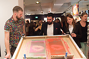 BEN CHALLEN PRINTMAKER `preview evening  in support of The Eve Appeal, a charity dedicated to protecting women from gynaecological cancers. Bonhams Knightsbridge, Montpelier St. London. 29 April 2019