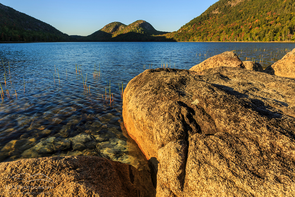 "Jordan Pond and ""The Bubbles"" in Maine's Acadia National Park."