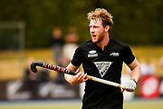 Brad Read of the Black Sticks at the Black Sticks v Canada third test. Lloyd Elsmore Park, Auckland. 20 October 2018. Copyright photo: Alisha Lovrich / www.photosport.nz