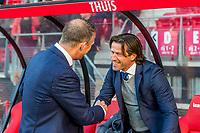 ALKMAAR, 19-05-2017, AZ - FC Groningen,  AFAS Stadion, 4-1, AZ trainer John van den Brom, FC Groningen trainer/coach Ernest Faber