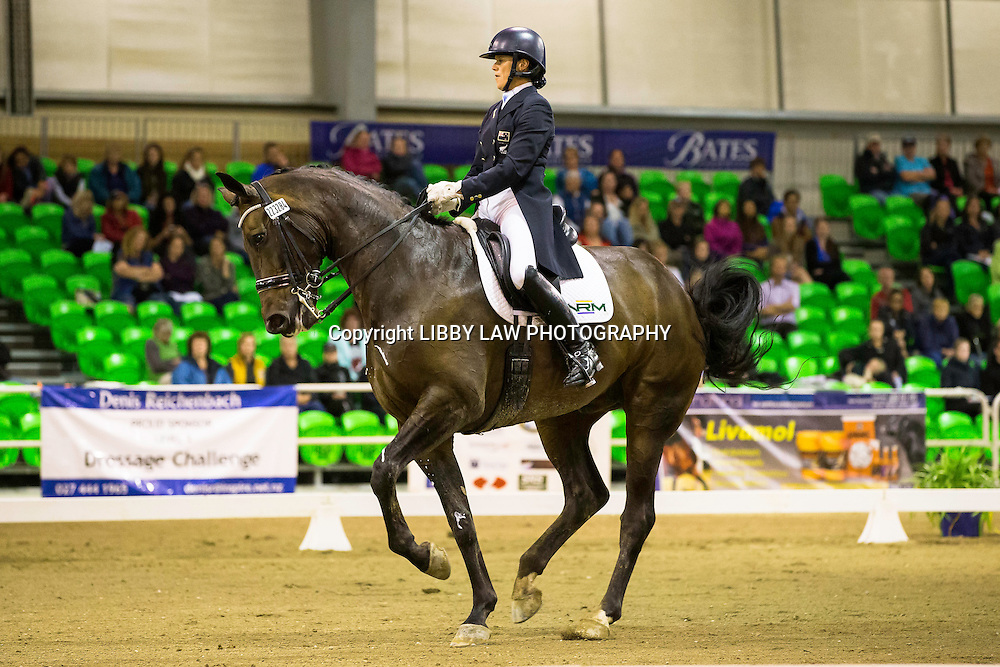 NZL-Vanesssa Way (KH ARAWN) 2ND-Stable Of Stallions CDI3* Grand Prix Musical Freestyle: 2015 NZL-Bates NZ Dressage Championships, Manfeild Park - Feilding (Saturday 7 March) CREDIT: Libby Law COPYRIGHT: LIBBY LAW PHOTOGRAPHY