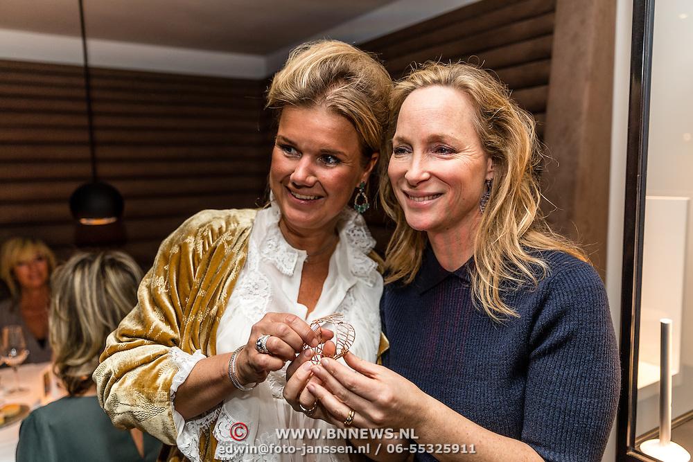 NLD/Waalre/20170130 - Lancering nieuwe juwelenlijn Leaves Dewdrops van Prinses Margarita , Prinses Margarita en ........