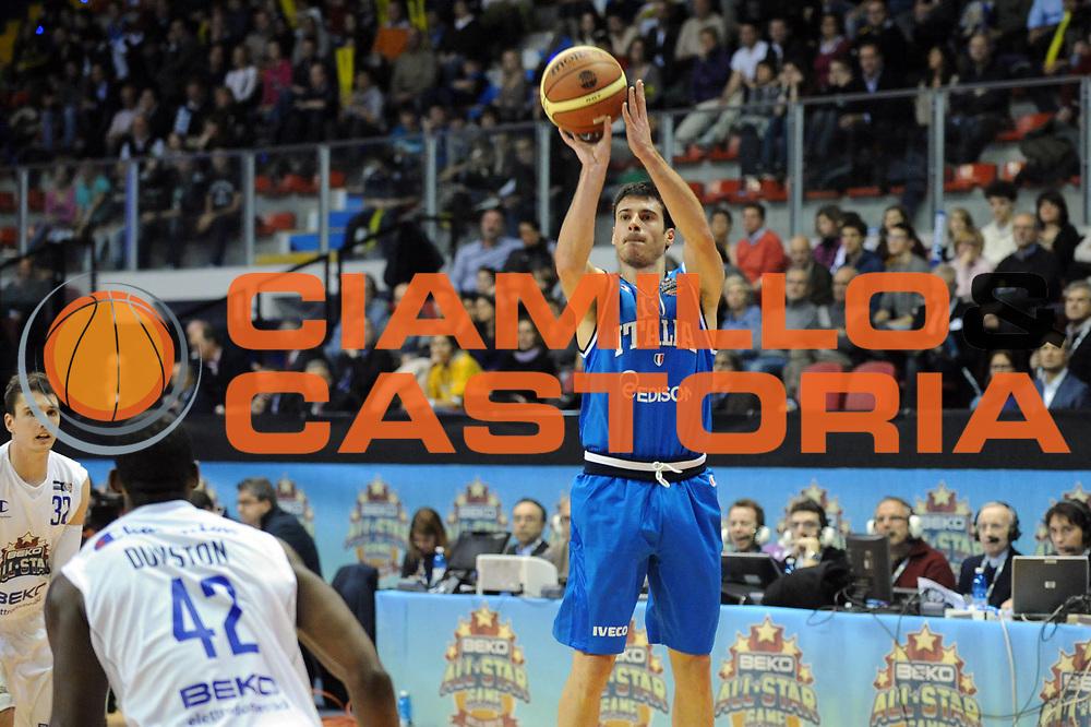 DESCRIZIONE : Biella Beko All Star Game 2012-13<br /> GIOCATORE : Lorenzo D'Ercole<br /> CATEGORIA : Tiro<br /> SQUADRA : Italia Nazionale Maschile<br /> EVENTO : All Star Game 2012-13<br /> GARA : Italia All Star Team<br /> DATA : 16/12/2012 <br /> SPORT : Pallacanestro<br /> AUTORE : Agenzia Ciamillo-Castoria/S.Ceretti<br /> Galleria : FIP Nazionali 2012<br /> Fotonotizia : Biella Beko All Star Game 2012-13<br /> Predefinita :