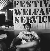 Member of Festival Welfare Service, Glastonbury, Somerset, 1989
