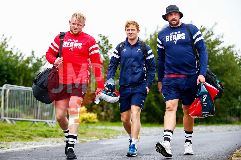 Nic Stirzaker and Joe Latta arrive at Camarthen Park - Mandatory by-line: Ryan Hiscott/JMP - 18/08/2018 - RUGBY - Carmarthen Park - Carmarthen, Wales - Scarlets v Bristol Bears - Pre-season friendly