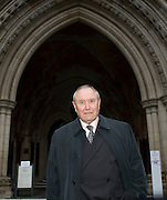 Picture by Mark Larner/Central News. Picture shows George Davis outside the High Court 23/02/2011..Davis, a convicted arm robber, arrested in 1974 after a payroll heist at the London Electricity Board in Ilford, Essex is today appealing against the conviction at the High Court..In 1976, after serving less than two years from the date of his arrest, Davis was freed under the Royal Prerogative of Mercy, sanctioned by the Queen. But he had not been 'found innocent'. His release was granted simply because it was deemed that conviction on the evidence presented was unsafe..