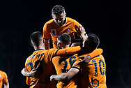 SYDNEY, AUSTRALIA - AUGUST 07: Brisbane Roar celebrate the goal of James O'Shea (26) during the FFA Cup round of 32 football match between Sydney FC and Brisbane Roar FC on August 07, 2019 at Leichhardt Oval in Sydney, Australia. (Photo by Speed Media/Icon Sportswire)