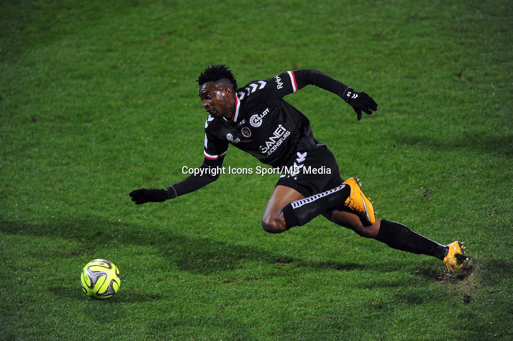 Benjamin MOUKANDJO  - 04.12.2014 - Lyon / Reims - 16eme journee de Ligue 1  <br />Photo : Jean Paul Thomas / Icon Sport