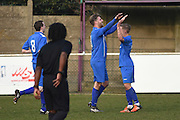 Greenwich Borough's Michael Power  celebrates (4-0) during the Southern Counties East match between AFC Croydon Athletic and Greenwich Borough at the Mayfield Stadium, Croydon, United Kingdom on 12 March 2016. Photo by Martin Cole.