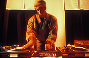 Jungle Brothers DJ, Sammy B performing in the U.K, 1990s