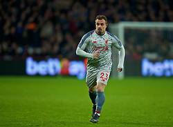 LONDON, ENGLAND - Monday, February 4, 2019: Liverpool's substitute Xherdan Shaqiri during the FA Premier League match between West Ham United FC and Liverpool FC at the London Stadium. (Pic by David Rawcliffe/Propaganda)