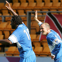 St Johnstone v Ross County...26.08.06<br />Paul Sheerin celebrates his goal with Jason Scotland<br /><br />Picture by Graeme Hart.<br />Copyright Perthshire Picture Agency<br />Tel: 01738 623350  Mobile: 07990 594431