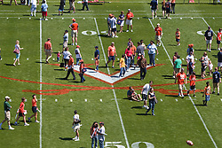 Fans were allowed onto the field before the spring game to enjoy football related games.  The Virginia Cavaliers football team played the annual spring football scrimmage at Scott Stadium on the Grounds of the University of Virginia in Charlottesville, VA on April 18, 2009.  (Special to the Daily Progress / Jason O. Watson)