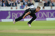 Stuart Meaker of Surrey bowling during the Royal London One Day Cup match between Warwickshire County Cricket Club and Surrey County Cricket Club at Lord's Cricket Ground, St John's Wood, United Kingdom on 17 September 2016. Photo by David Vokes.