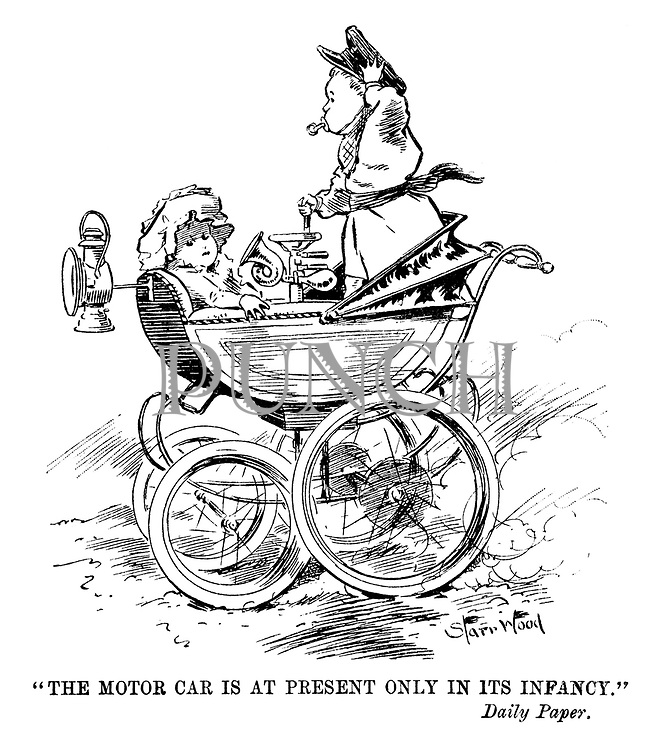 """The motor car is at present only in its infancy."" Daily Paper."