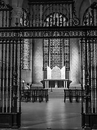 View of the iron screen and entrance one of the Chapels in the Cathedral Church of Saint John the Divine