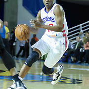 Delaware 87ers Guard Nolan Smith (10) drives towards the lane in the first half of a NBA D-league regular season basketball game between the Delaware 87ers (76ers) and the Sioux Falls Skyforce (Miami Heat) Tuesday, Dec. 2, 2014 at The Bob Carpenter Sports Convocation Center in Newark, DEL