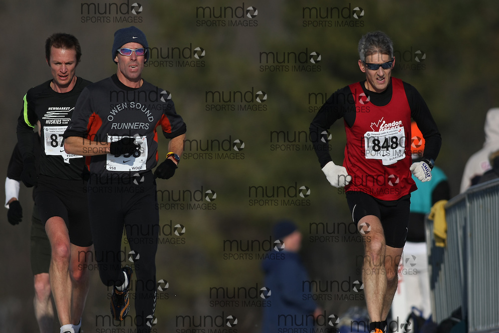 Guelph, Ontario ---29/11/08---  TIM WOOD and \848\ runs in the master's race at the 2008 AGSI Canadian Cross Country Championships in Guelph, Ontario, November 29, 2008..Sean Burges Mundo Sport Images