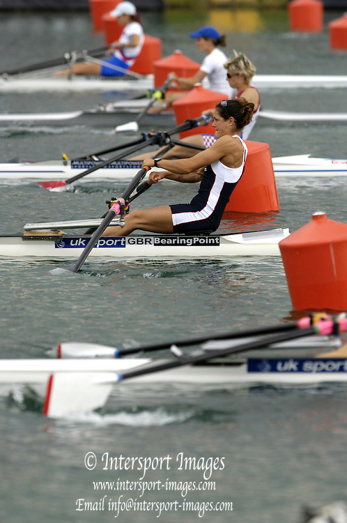 2005 FISA Rowing World Cup Munich,GERMANY. 18.06.2005; GBR  LW1X Jen Goldsack.Photo  Peter Spurrier. .email images@intersport-images...[Mandatory Credit Peter Spurrier/ Intersport Images] Rowing Course, Olympic Regatta Rowing Course, Munich, GERMANY
