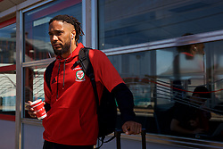 RUNCORN, ENGLAND - Tuesday, May 22, 2018: Wales' captain Ashley Williams at Runcorn Station as the squad travel by train as they head to Heathrow for a flight to Los Angeles ahead of the international friendly match against Mexico. (Pic by David Rawcliffe/Propaganda)
