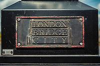 Detail Of A Streetlight Near Tower Bridge - London, England, 2016