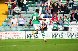 Yeovil Town's Gozie Ugwa celebrates his goal in front of the home fans - Photo mandatory by-line: Dougie Allward/Josephmeredith.com  - Tel: Mobile:07966 386802 01/09/2012 - SPORT - FOOTBALL - League 1 -  Yeovil  - Huish Park -  Yeovil Town v Doncaster Rovers