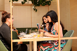 UK ENGLAND LONDON 8SEP16 - Celebrity chefs Melissa and Jasmine Hemsley (L) tase new food creations at the Hemsley and Hemsley Cafe at Selfridge's in central London.<br /> <br /> jre/Photo by Jiri Rezac<br /> <br /> © Jiri Rezac 2016