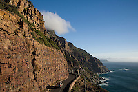 Cape Town, South Africa A road on Side of Mountain with blue Skies
