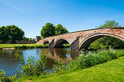 Nungate Bridge and River Tyne at Haddington, East Lothian, Scotland, UK
