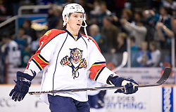 March 13, 2010; San Jose, CA, USA; Florida Panthers left wing David Booth (10) before the game against the San Jose Sharks at HP Pavilion. Florida defeated San Jose 3-2 in overtime. Mandatory Credit: Jason O. Watson / US PRESSWIRE