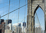 © licensed to London News Pictures. New York, USA  28/05/11.  Brooklyn Bridge Photo credit should read Stephen Simpson/LNP