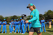 Meg Lanning captain of Australia during the presentation of the first women's one day International ( ODI ) match between India and Australia held at the Reliance Cricket Stadium in Vadodara, India on the 12th March 2018<br /> <br /> Photo by Vipin Pawar / BCCI / SPORTZPICS