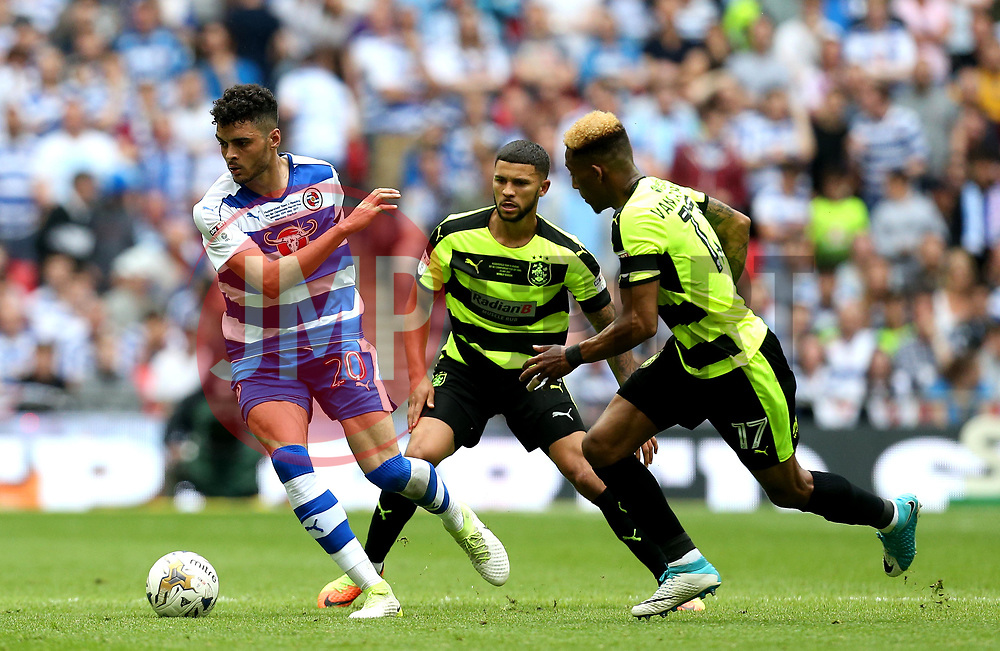 Tiago Ilori of Reading runs with the ball - Mandatory by-line: Robbie Stephenson/JMP - 29/05/2017 - FOOTBALL - Wembley Stadium - London, England - Huddersfield Town v Reading - Sky Bet Championship Play-off Final