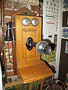 Old telephone in downtown drug store Vicksburg Mississippi.