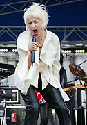 Singer Cyndi Lauper on Good Morning America June 7, 2002 in New York.   (Photo by Matthew Peyton)