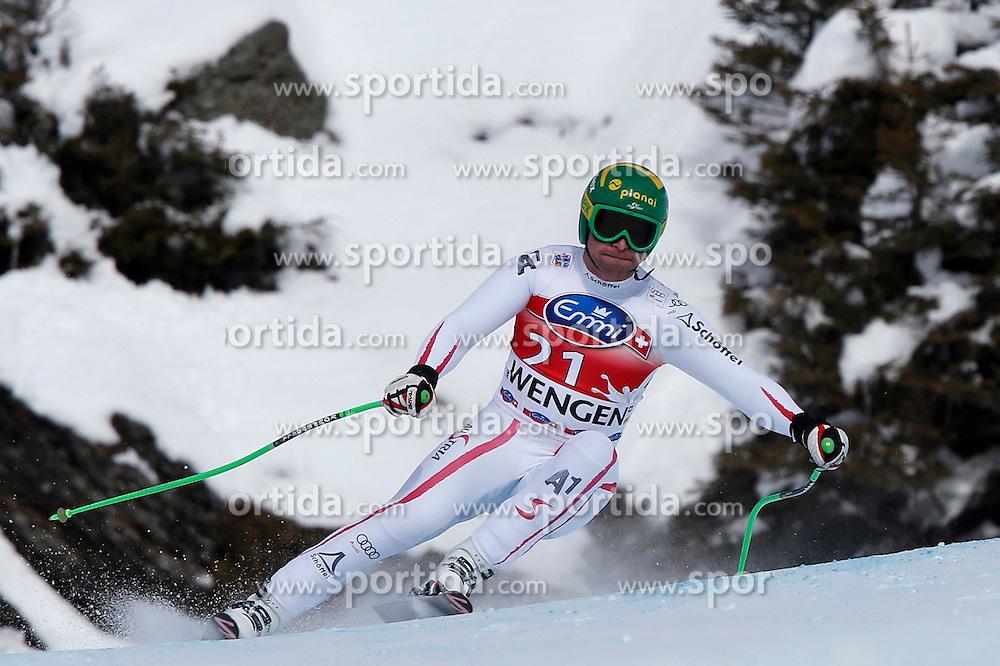 19.01.2013, Lauberhornabfahrt, Wengen, SUI, FIS Weltcup Ski Alpin, Abfahrt, Herren, im Bild Klaus Kroell (AUT) // during mens downhillrace of FIS Ski Alpine World Cup at the Lauberhorn downhill course, Wengen, Switzerland on 2013/01/19. EXPA Pictures © 2013, PhotoCredit: EXPA/ Freshfocus/ Christian Pfander..***** ATTENTION - for AUT, SLO, CRO, SRB, BIH only *****