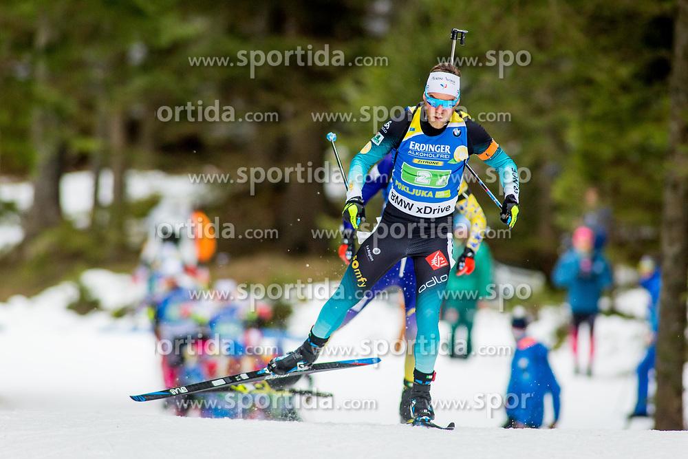 Antonin Guigonnat (FRA) during Single Mixed Relay at day 1 of IBU Biathlon World Cup 2018/19 Pokljuka, on December 2, 2018 in Rudno polje, Pokljuka, Pokljuka, Slovenia. Photo by Ziga Zupan / Sportida