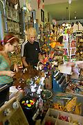 Europe, Slovakia, capitol city - Bratislava, folk art and hand crafts store