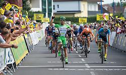 08.07.2016, Stegersbach, AUT, Ö-Tour, Österreich Radrundfahrt, 6. Etappe, Graz nach Stegersbach, im Bild v.l. Nicola Ruffoni (ITA, Bardiani CSF), Daniel Auer (AUT, Team Felbermayr Simplon Wels) // v.l. Nicola Ruffoni (ITA, Bardiani CSF), Daniel Auer (AUT, Team Felbermayr Simplon Wels) during the Tour of Austria, 6th Stage from Gratz to Stegersbach, Austria on 2016/07/08. EXPA Pictures © 2016, PhotoCredit: EXPA/ Reinhard Eisenbauer