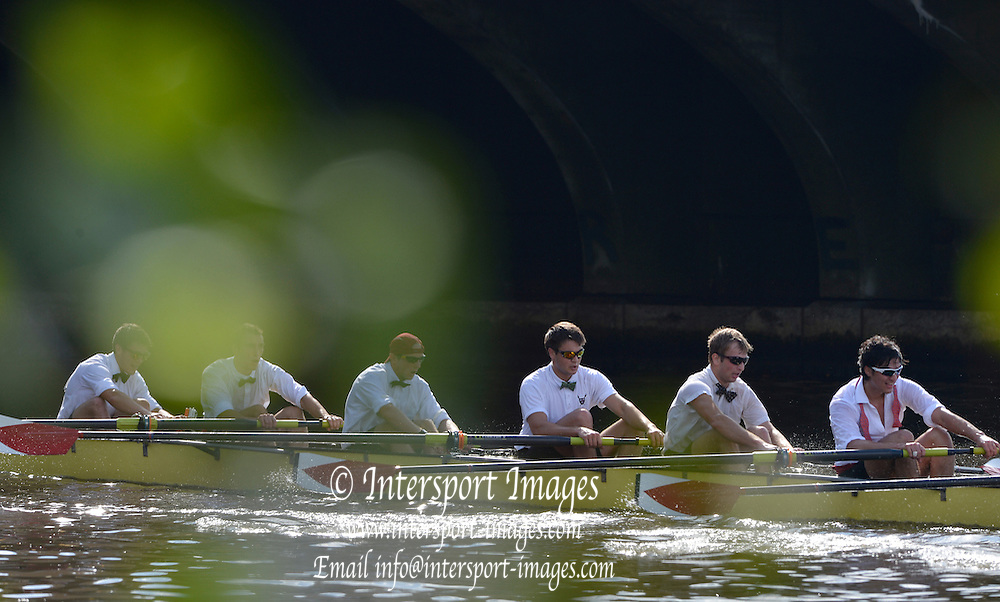"..Description; General view as Harvard University pass under Eliot Bridge in the Club Men's eights  during the 2012 Head of the Charles"". Boston,  USA..13:33:13  Saturday  20/10/2012..[Mandatory Credit: Peter Spurrier/Intersport Images]"