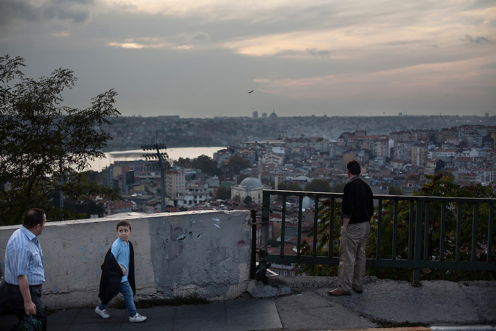 View over the golden horn from Tarlabasi, Istanbul.