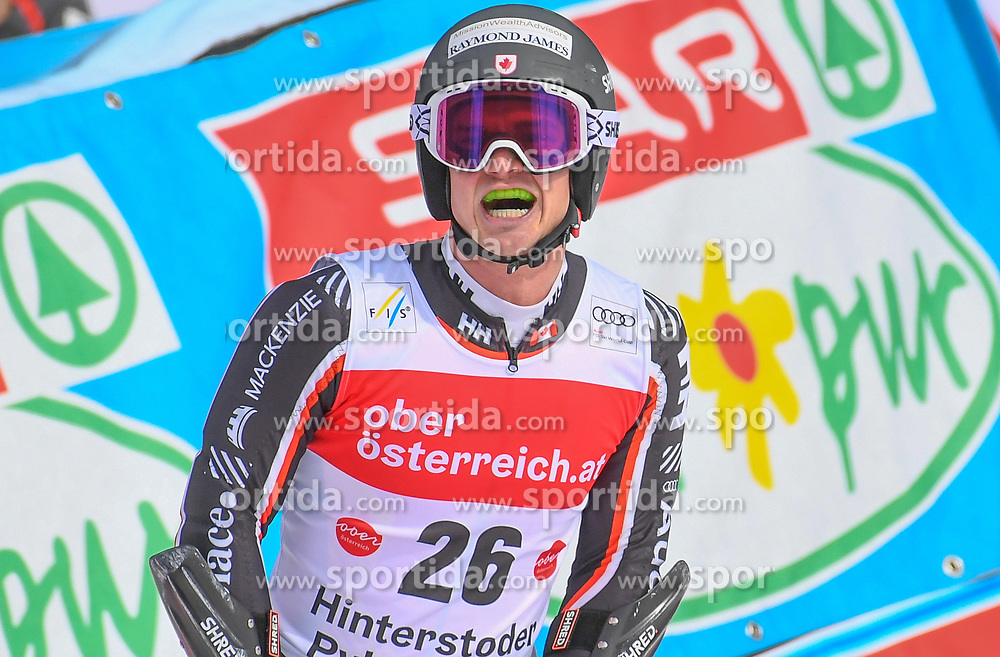 26.10.2019, Hannes Trinkl Weltcupstrecke, Hinterstoder, AUT, FIS Weltcup Ski Alpin, Riesenslalom, Herren, 2. Lauf, im Bild Trevor Philp (CAN) // Trevor Philp of Canada reacts after his 2nd run of men's Giant Slalom of FIS ski alpine world cup at the Hannes Trinkl Weltcupstrecke in Hinterstoder, Austria on 2019/10/26. EXPA Pictures © 2020, PhotoCredit: EXPA/ Erich Spiess