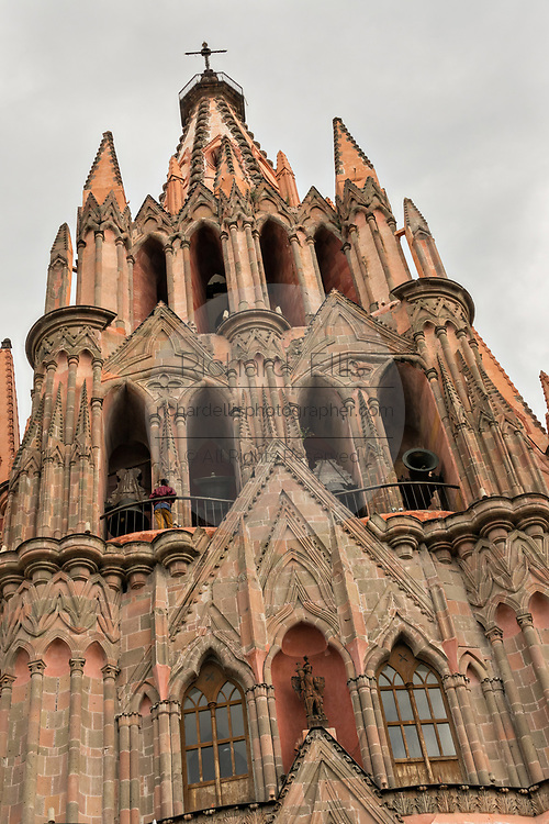 The Parroquia de San Miguel Arcangel church during the week long fiesta of the patron saint Saint Michael September 26, 2017 in San Miguel de Allende, Mexico.